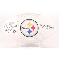 "Rocky Bleier Signed Steelers Logo Football Inscribed ""4x SB Champ"" (Radtke COA)"