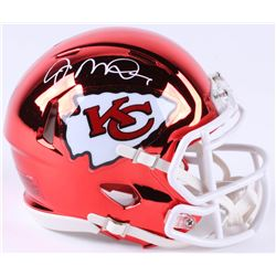 Joe Montana Signed Kansas City Chiefs Chrome Speed Mini-Helmet (JSA COA)