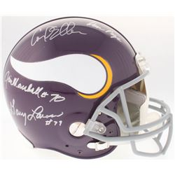 """Vikings """"Purple People Eaters"""" Authentic On-Field Full-Size Throwback Helmet Team-Signed by (4) with"""