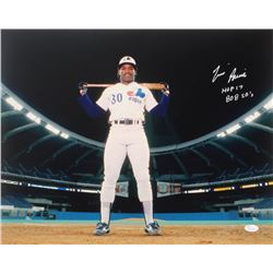 "Tim Raines Signed Expos 16x20 Photo Inscribed ""HOF 17""  ""808 SB'S"" (JSA COA)"