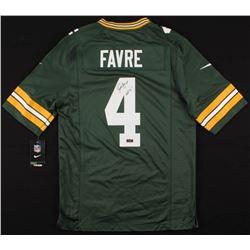 "Brett Favre Signed Green Bay Packers Nike Jersey Inscribed ""HOF 16"" (Radtke COA)"