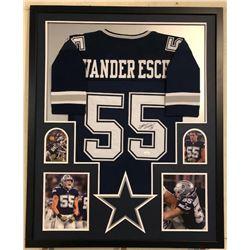 Leighton Vander Esch Signed 34x42 Custom Framed Jersey (JSA COA)