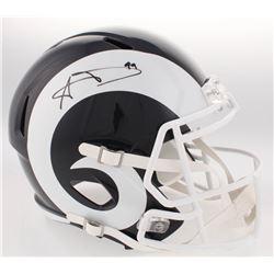 Aaron Donald Signed Rams Full-Size Speed Helmet (Steiner COA)