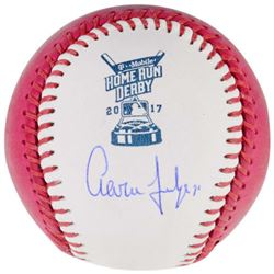 Aaron Judge Signed 2017 Home Run Derby Moneyball Baseball (Fanatics Hologram)