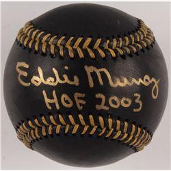 """Eddie Murray Signed OML Black Leather Baseball Inscribed """"HOF 2003"""" (JSA COA)"""