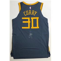 """Stephen Curry Signed Warriors """"The Bay"""" Nike Jersey (Steiner COA)"""