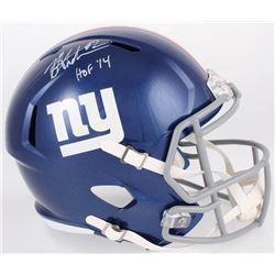 """Michael Strahan Signed Giants Full-Size Speed Helmet Inscribed """"HOF '14"""" (JSA COA)"""