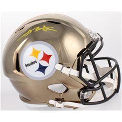 Antonio Brown Signed Steelers Full-Size Chrome Speed Helmet (JSA COA)