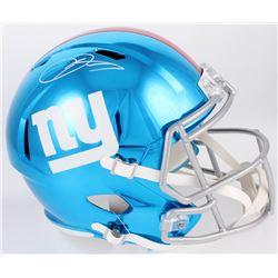 Odell Beckham Jr. Signed Giants Full-Size Chrome Speed Helmet (JSA COA)