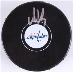 Alexander Ovechkin Signed Capitals Logo Hockey Puck (Beckett COA)