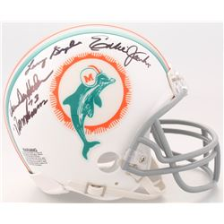 1972 Dolphins Mini-Helmet Signed by (7) with Norm Evans, Maulty Moore, Eddie Jenkins, Larry Seiple,