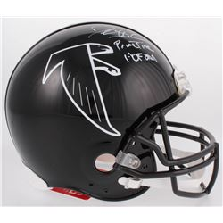 """Deion Sanders Signed Falcons Full-Size Authentic On-Field Helmet Inscribed """"Prime Time""""  """"HOF 2011"""""""
