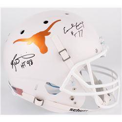 """Ricky Williams  Earl Campbell Signed Texas Longhorns Helmet Inscribed """"HT 98""""  """"HT 77"""" (JSA COA)"""