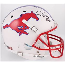 Courtland Sutton Signed SMU Mustangs Helmet (JSA COA)