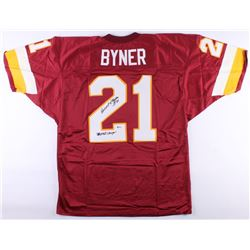 "Earnest Byner Signed Jersey Inscribed ""SB XXVI Champs"" (Beckett COA)"