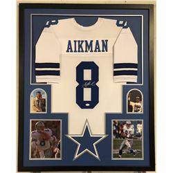 Troy Aikman Signed 34x42 Custom Framed Jersey Display (JSA COA)