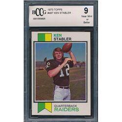 1973 Topps #487 Ken Stabler RC (BCCG 9)