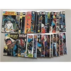 Lot of (64) 1987-1992 First Series Detective Comics Comic Books