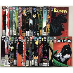 Lot of (62) 1989-1998 DC Batman Comic Books with Annual 26