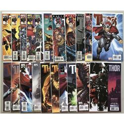 Lot of (46) 1993-2010 Marvel Thor Comic Books with 1st  2nd Series