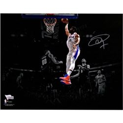"Joel Embiid Signed 76ers ""Dunking"" 11x14 Photo (Fanatics Hologram)"