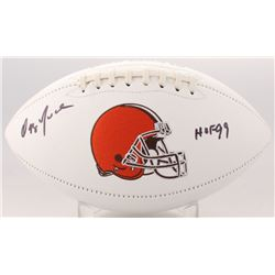 "Ozzie Newsome Signed Browns Logo Football Inscribed ""HOF 99"" (JSA COA)"