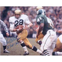 "Rocky Bleier Signed Notre Dame Fighting Irish 16x20 Photo Inscribed ""66 Natl Champs"" (JSA COA)"