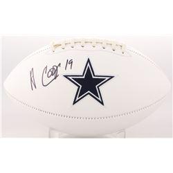 Amari Cooper Signed Dallas Cowboys Logo Football (JSA COA)