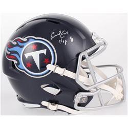 "Earl Campbell Signed Tennessee Titans Full-Size Speed Helmet Inscribed ""HOF 91"" (JSA COA)"
