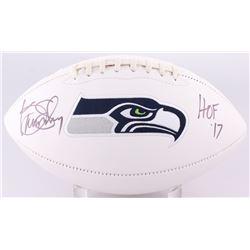"Kenny Easley Signed Seahawks Logo Football Inscribed ""HOF '17"" (JSA COA)"