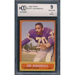 1963 Topps #107 Jim Marshall RC (BCCG 9)