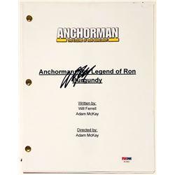 "Will Ferrell Signed ""Anchorman: The Legend of Ron Burgundy"" Full Movie Script (PSA COA)"