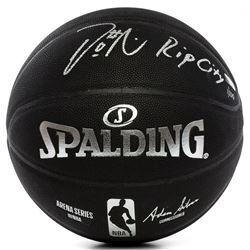 "Damian Lillard Signed LE NBA Arena Series Black Basketball Inscribed ""RIP City"" (Panini COA)"