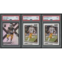 Lot of (3) PSA Graded 9 Josh Allen Rookie Cards with (1) 2018 Elite Draft Picks #103A RC  (2) 2018 S