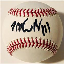 """Jack White Signed OML Baseball Inscribed """"II/III"""" (PSA COA)"""