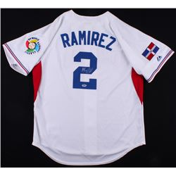 Hanley Ramirez Signed 2009 Dominican Republic Majestic Jersey (PSA COA)