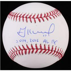 """Jose Altuve Signed OML Baseball Inscribed """"2014, 2016 AL BC"""" (Radtke Hologram)"""