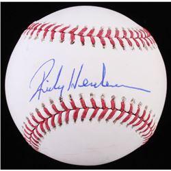Rickey Henderson Signed OML Baseball (JSA COA)