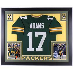Davante Adams Signed 35x43 Custom Framed Jersey (JSA COA)