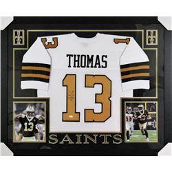 Michael Thomas Signed 35x43 Custom Framed Jersey (JSA COA)