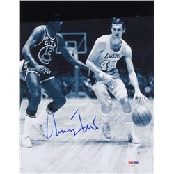 Jerry West Signed Los Angeles Lakers 8.5x11 Photo (PSA COA)