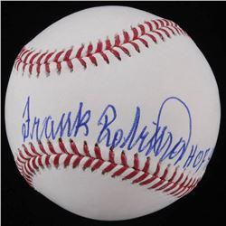 "Frank Robinson Signed OML Baseball Inscribed ""HOF 82"" (JSA COA)"