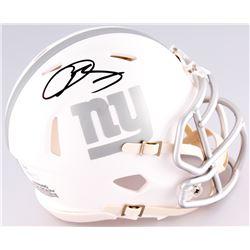 Odell Beckham Jr. Signed New York Giants Custom Matte White ICE Speed Mini Helmet (JSA COA)