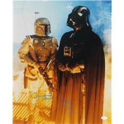 "David Prowse  Jeremy Bulloch Signed ""Star Wars"" 16x20 Photo Inscribed ""Darth Vader""  ""Boba Fett"" (JS"