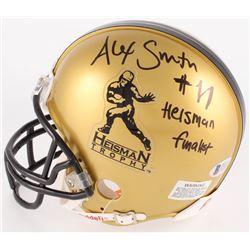 "Alex Smith Signed Heisman Trophy Mini Helmet Inscribed "" Heisman Finalist"" (Beckett COA)"