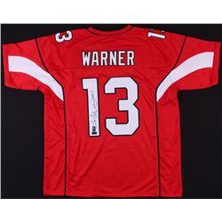 """Kurt Warner Signed Jersey Inscribed """"HOF 17"""" (Radtke COA  Warner Hologram)"""