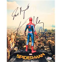 Spider-Man: Homecoming 11x14 Photo Cast-Signed by (5) With Tom Holland, Zendaya, Bokeem Woodbine, Ja