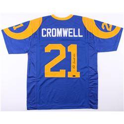 Nolan Cromwell Signed Jersey (Radtke COA)
