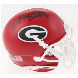 Nick Chubb Signed Georgia Bulldogs Mini-Helmet (Radtke COA)