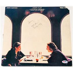 "Yoko Ono Signed ""Heart Play: Unfinished Dialogue"" Vinyl Album Cover Inscribed ""Love"" (PSA COA)"